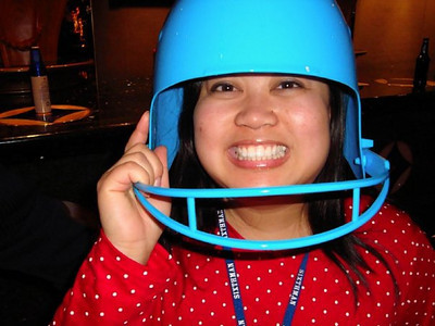 Beer bucket and headgear all in one - what a concept!