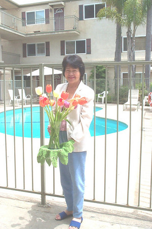 Mom and her flowers.