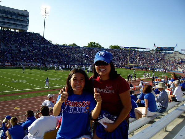 Sarah and Jackie at the KU Football Home Opener